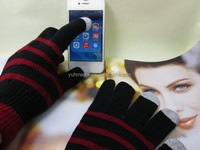 Latest Design Popular Winter Warm And Soft Touch Screen Glove Acrylic Knitted Magic Gloves For Smartphone