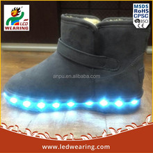 2016new High Top led clignote chaussures ultra light safety shoes