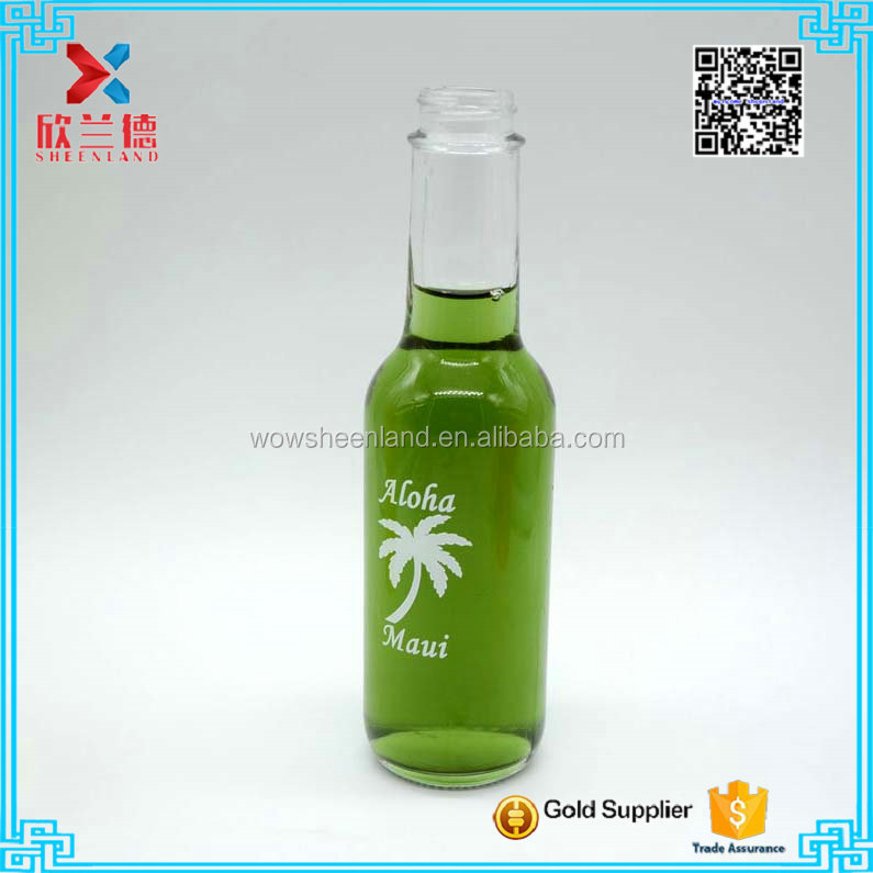 Widely used glass clear beer bottle 150ml for sale