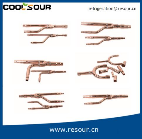 Coolsour Central air condition copper branch disperse pipe , Refrigeration Parts