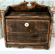 Bread Box Shabby Kitchen Cottage Chic Food Storage Crate