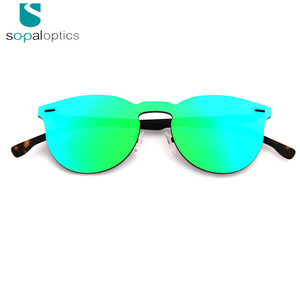 2018 new trends custom mirror aviation fashionable sunglasses for women mirror lens