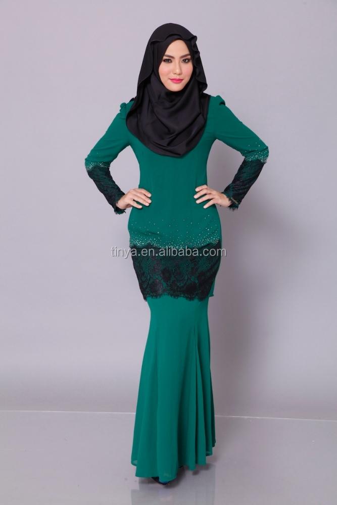 High Quality Modern Fashion Design Lace Baju Kurung 2016