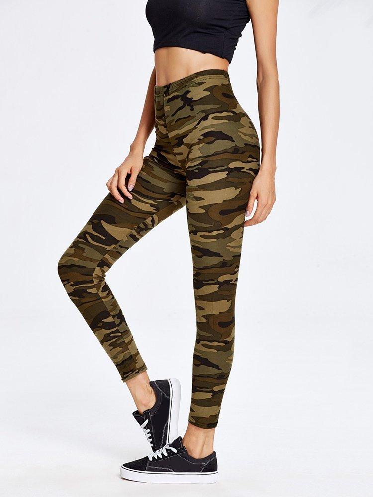 1b762d58fa424 Brown Camoflauge Leggings M Medium Large 10 to 14 Jeggings Best Seller  Pants Womens Plus size
