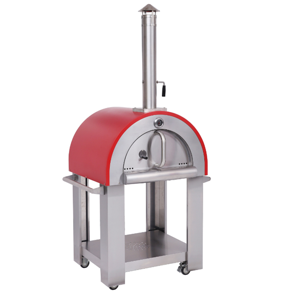 HPO01R , wood fired Backyard Pizza Oven wood burning cook stove