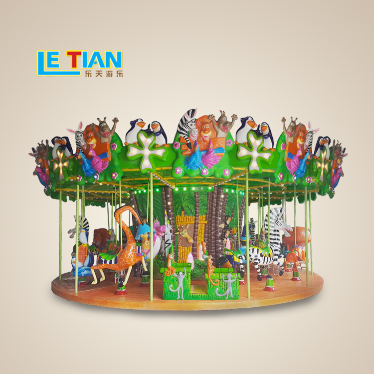 Outdoor Playground Equipment 12 seats Carousel Horse Ride for sale