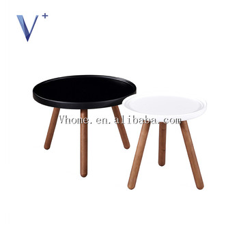 MDF With Painting Top With Birch Leg Wooden Coffee Table Side Table Nordic  Design
