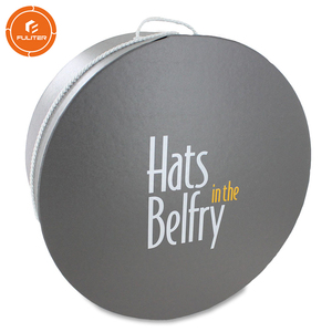 Custom printed round mini wholesale apparel packaging decorative round hat boxes