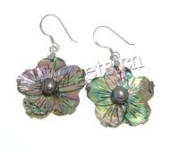 Abalone Shell Flower Taxco Silver Earrings Abalone 400947