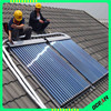 pressurized ETC solar collectors with copper heatpipe for residential water heater