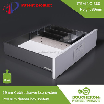 Cube Drawers Drawer Tandem Box With Drawer Slides Cabinet Hardware