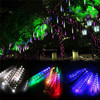 Multi color custom mini led meteor shower rainfall string light/christmas snowfall decorative fairy chain lighting