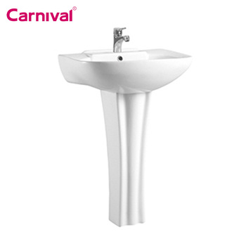 Alibaba online supplier bathroom design free standing wash basin with stand