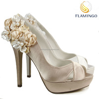 FLAMINGO LATEST 2017 ODM OEM white wedding shoes for bride