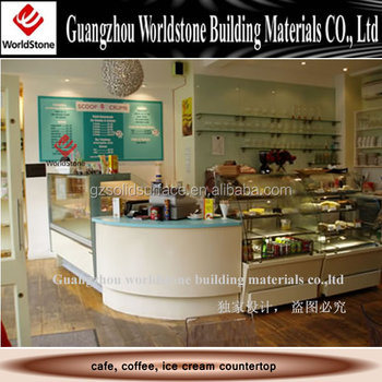 Custom Made Coffee Kiosk Cafe Small Juice Bar Counter Design