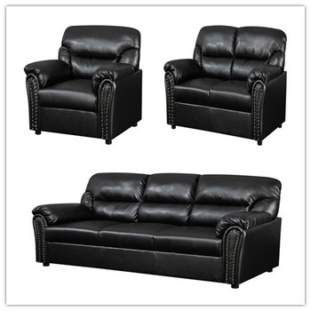 Brilliant Black Leather Pvc 3 2 1 Sofa On Sale Cheap Leather Sofas Factory Prices Buy The Leather Factory Sofa 2 Seater Black Leather Sofa Cheap Living Room Gmtry Best Dining Table And Chair Ideas Images Gmtryco
