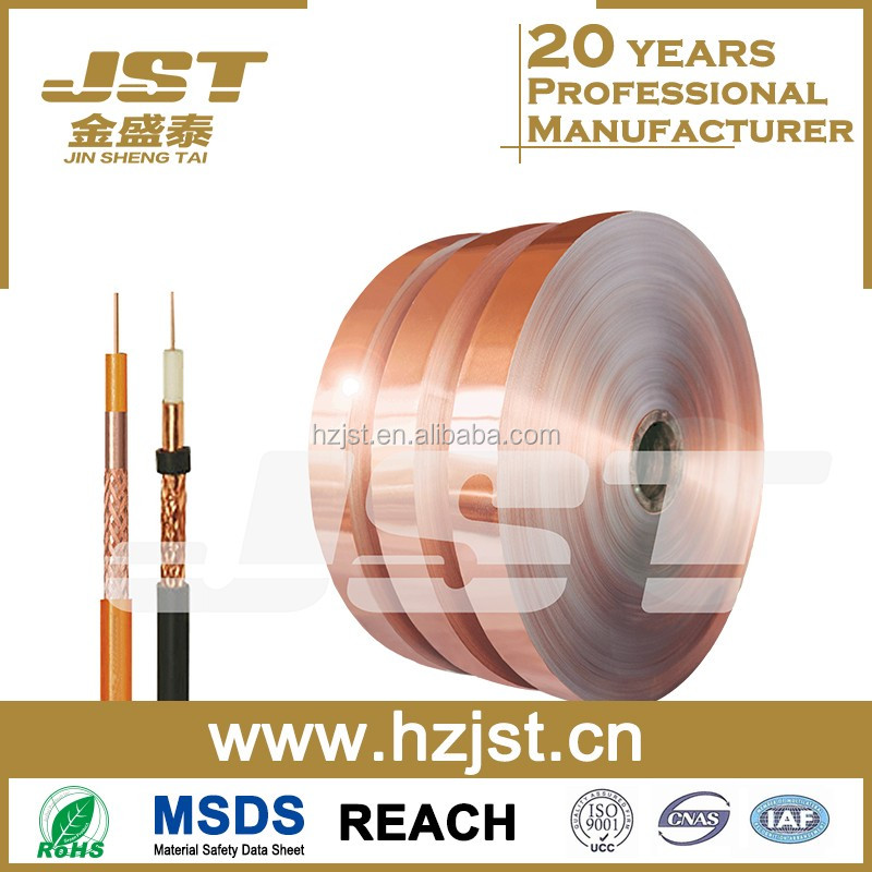 Copper Color Coated Aluminum Laminated Foil AL/PET For Cable Shield
