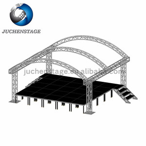 Free Design Arched Customized Curved Truss System TUV Tested Arch Truss Roof