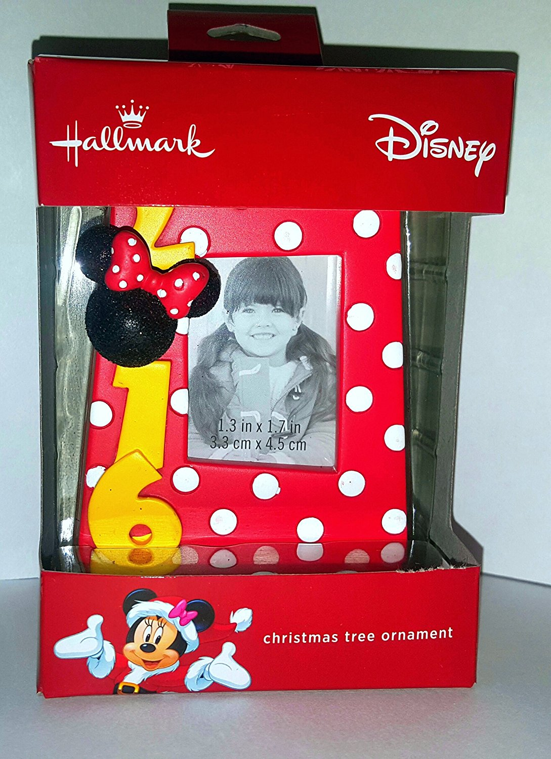 Hallmark Disney Minnie Mouse 2016 Picture Frame Christmas Tree Ornament