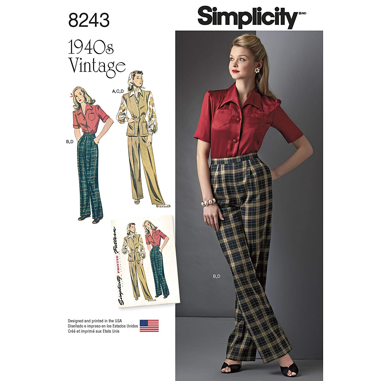 dce50975f5 Simplicity Creative Patterns US8243U5 8243 Simplicity Pattern 8243 Misses   Vintage 1940 S Sportswear Pattern