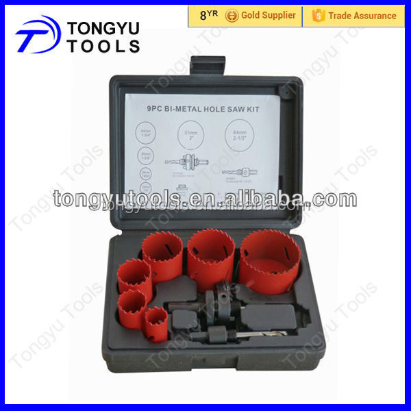 9PC Bi-metal Hole Saw Set