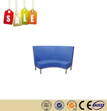 Restaurant chair PU chrome steel legs Banquette round sofa on sale