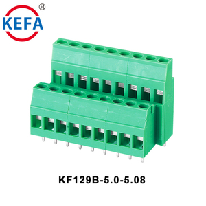 300V 20A Pluggable Double Row Green Color 5.0 5.08mm double level Terminal Block With Certification