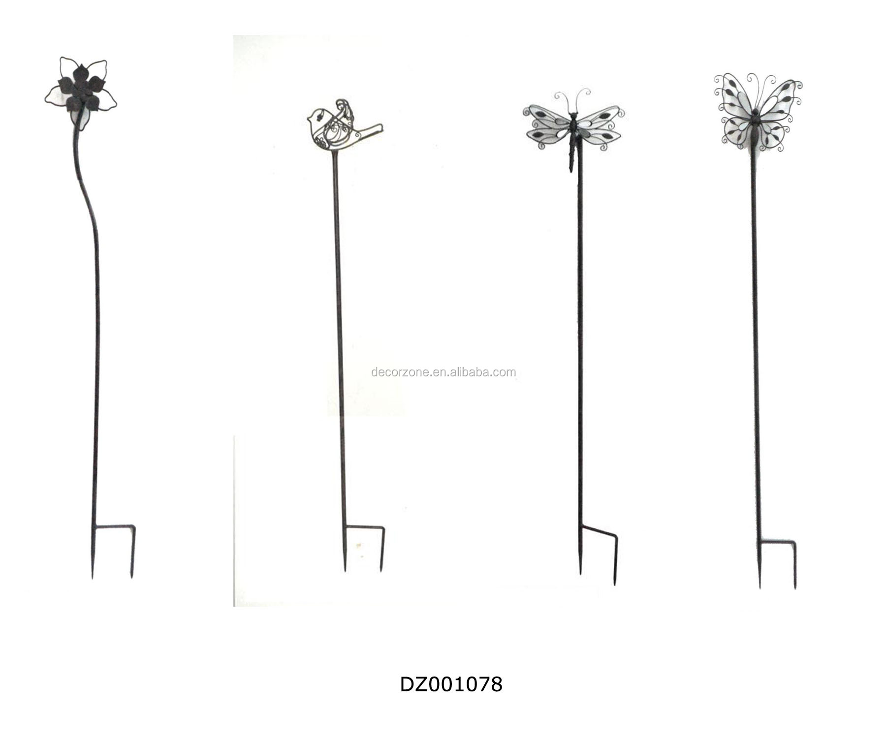 Elegant Metal Flower Garden Stakes, Metal Flower Garden Stakes Suppliers And  Manufacturers At Alibaba.com