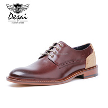 Top Quality Stitching Color Genuine Leather Men Pointed Toe Formal Men Dress Shoes