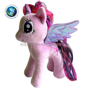 2017 Promotional Gift Stuffed Animal Purple Horse Soft Plush Toy