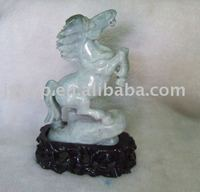jade horse, jade carving, jade crafts