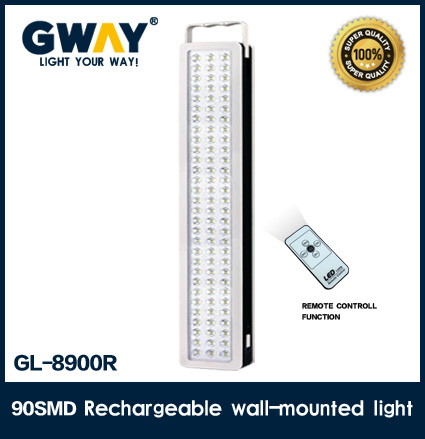 Remote controll home rechargeable led emergency light led lamp 9w