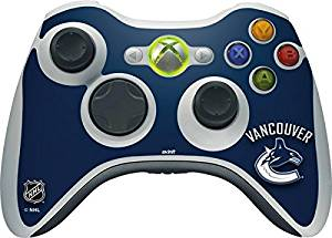 NHL Vancouver Canucks Xbox 360 Wireless Controller Skin - Vancouver Canucks Solid Background Vinyl Decal Skin For Your Xbox 360 Wireless Controller