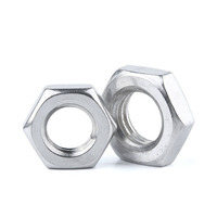 zinc plated carbon steel hex thin nuts