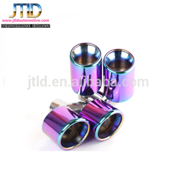 Universal Car Colorful Dual Outlets Exhaust Muffler Tips
