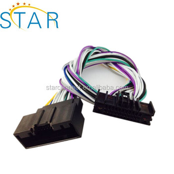 ford automotive 24 pin connector radio stereo wire harness buy Panasonic Car Stereo Wiring 7 Pin ford automotive 24 pin connector radio stereo wire harness