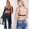 Women Sexy Lace Triangle Bralette Strappy Bra Wireless Unlined Cutout Brassiere Bralet Intimates Ultimate Crop Top