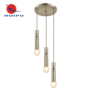 European Style Antique Brass Plating Metal Industrial Decorate E27 Energy Saving Pendant Lighting Vintage Lamp