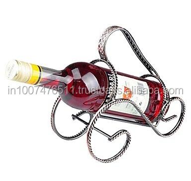 Metal One Bottle Wine Holder Single Rack Creative Display Holding