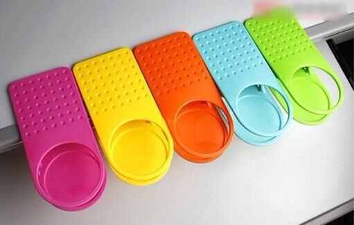 4 Colorful Clip On Table Cup Holders/Desk And Table Clip On Cup Holder