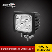 5 inch LED Working Light 4x4 Off road 12v Lights 5 LED Work Light 50w for Car and Motorcycle