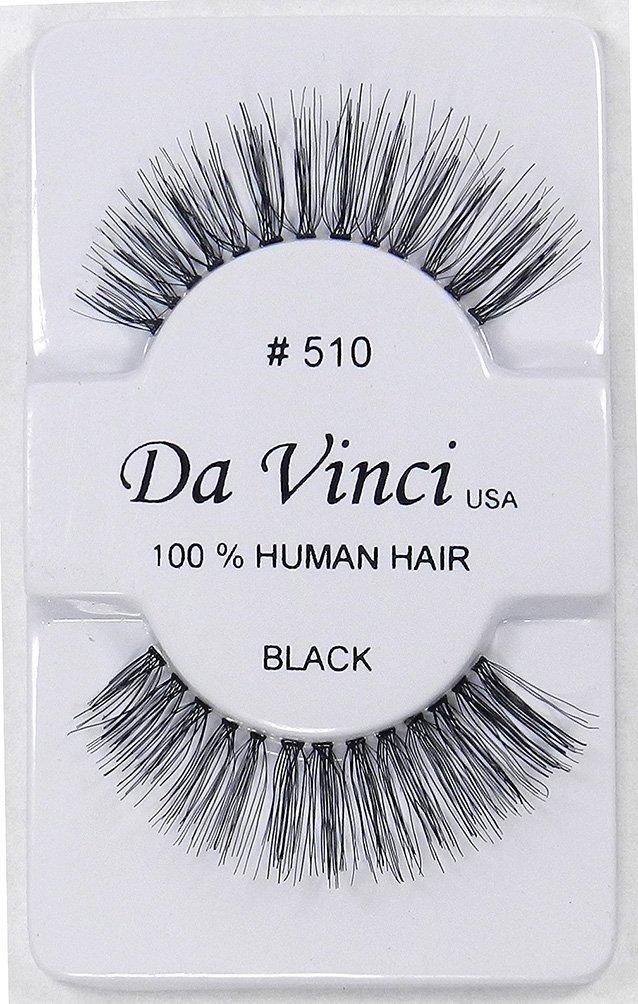 6 Pairs of Da Vinci USA False Eyelashes Fake Eye Lashes Human Hair Lash - #510,#560dw,#560wsp,#600,#601,#606 (#510)