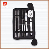 Stainless Steel BBQ/Barbecue Tool Set With Carrying Case