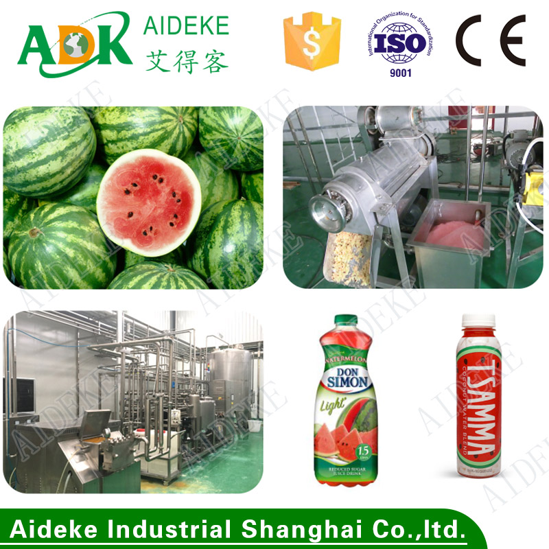 Automatic watermelon juice processing line/watermelon juice extracting machine