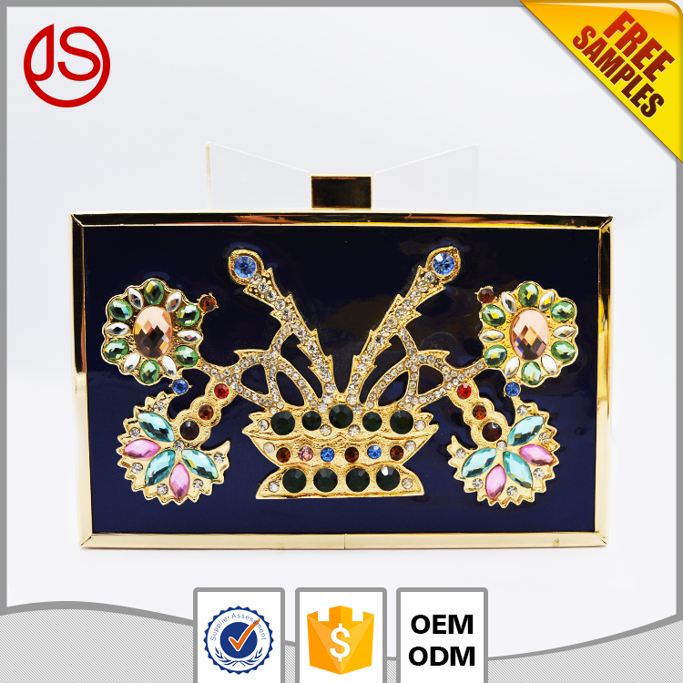 Hot selling Jewelry Acrylic Rhinestone Metal Acrylic box Handbag