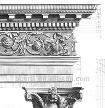 Canvas Roman Architecture Columns Cornice Poster printings for home