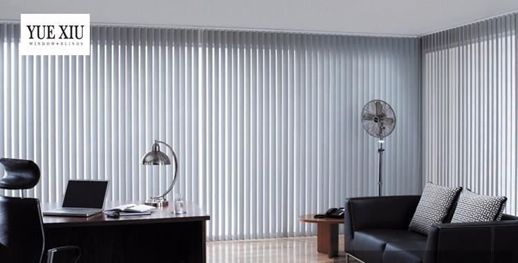 Vertical Blackout Fabric Room Divider Blinds European Design Top