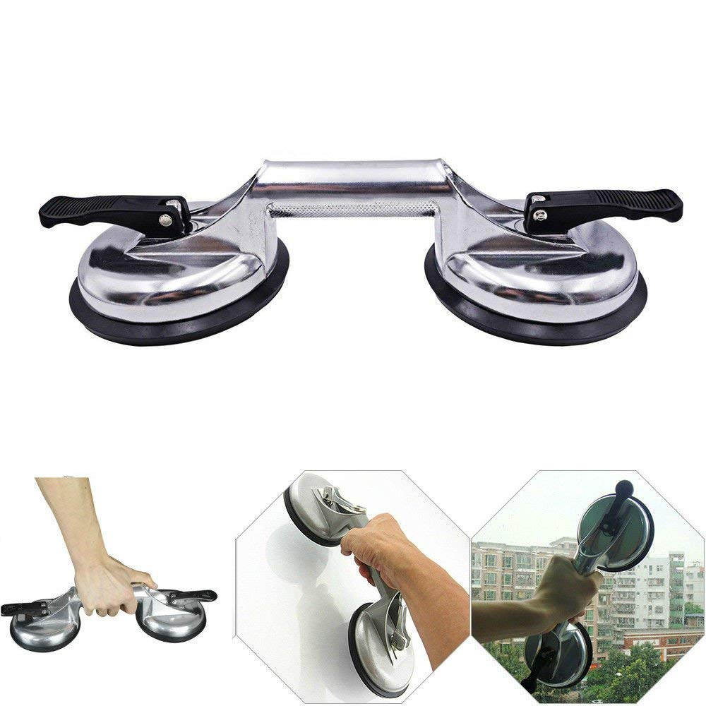 110 Lbs Heavy Duty Devilbiss Suction Cup for Mirror Glass REAMTOP Portable Aluminum Vacuum Suction Cup Plate for Car Granite Slab Tile Flat Lifter Gripper Puller