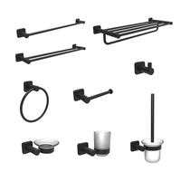 Stainless Steel Bathroom Accessories Set Black Toilet Accessories Shower Fittings
