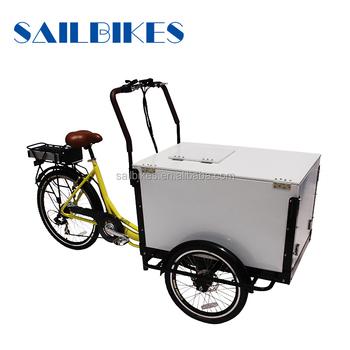 Eis Fracht Dreirad Fahrrad Kühlschrank Elektrische Dreirad Liefer ...